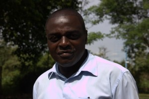Engineer Joseph Obunde, in charge of the sewerage treatment plant at Kiwasco, Kisumu Water and Sewerage Corporatio