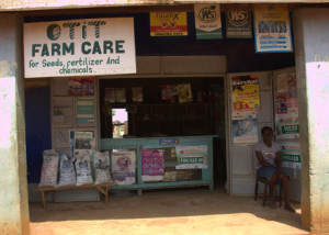 Agrovet shop in Uguja, western Kenya, the SCODP organisation helped to open.